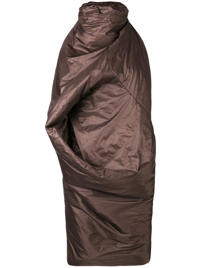 sleeping bag dress - Brown Rick Owens nStTH7Cv6