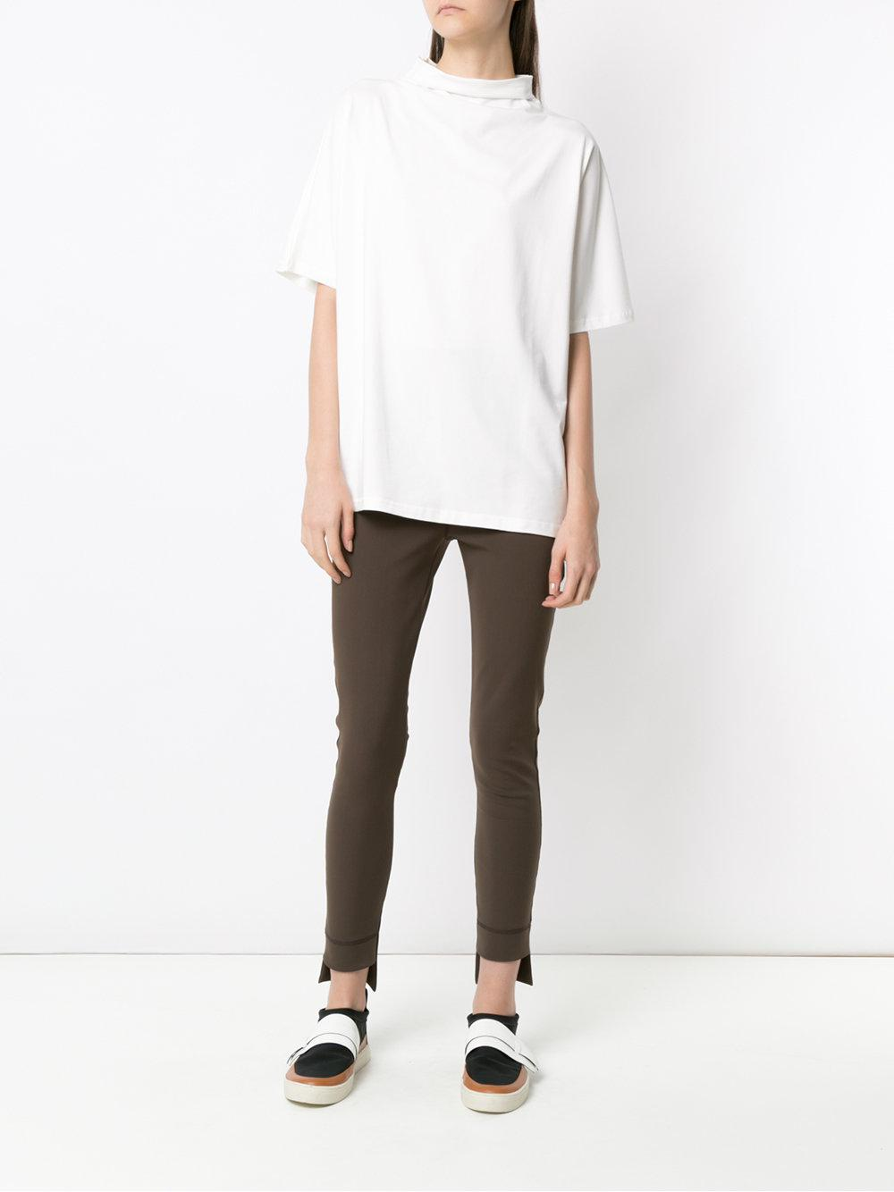3fa3dad11e784 Gloria Coelho - White Funnel Neck T-shirt - Lyst. View fullscreen