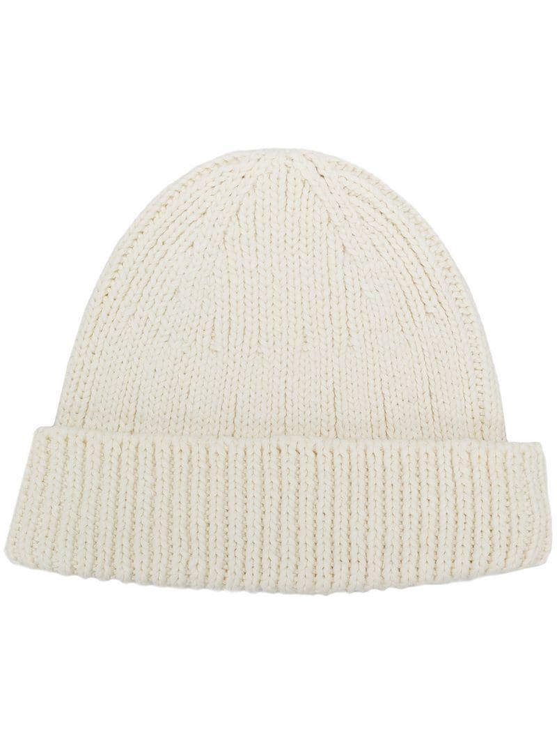 30c76d69f2e06 Visvim Ribbed Knit Beanie in White for Men - Lyst