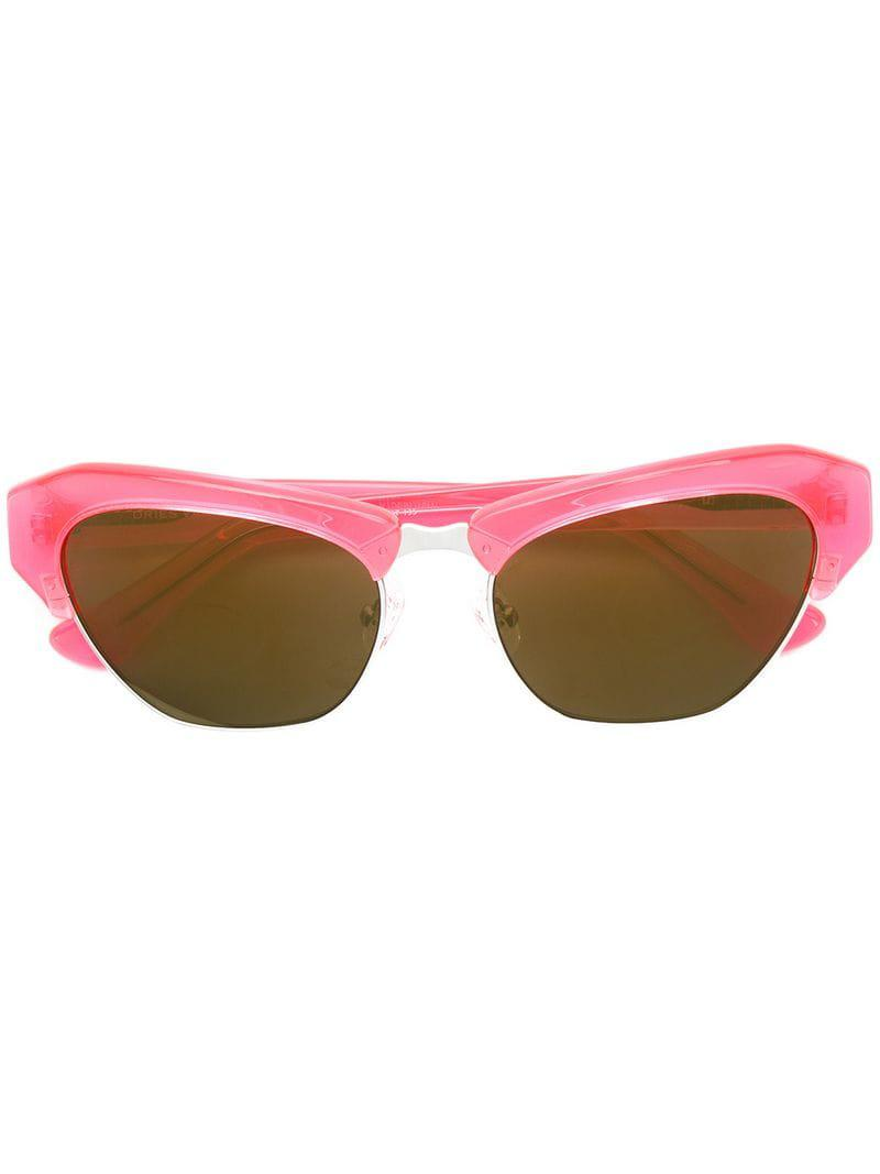 0e896b28231 Eye Cat Van Dries Noten In Sunglasses Farrow Linda X Lyst Orange YXHXqw