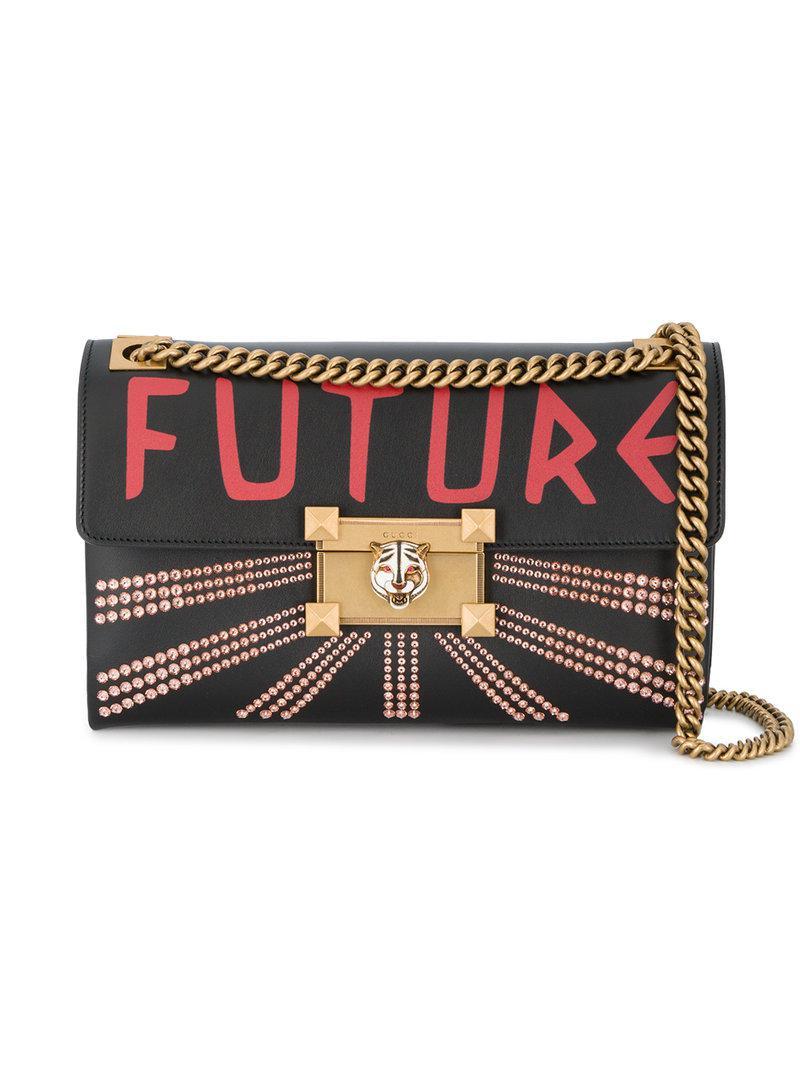 7f5a5f2078e Gucci Linea Future Shoulder Bag in Black - Lyst