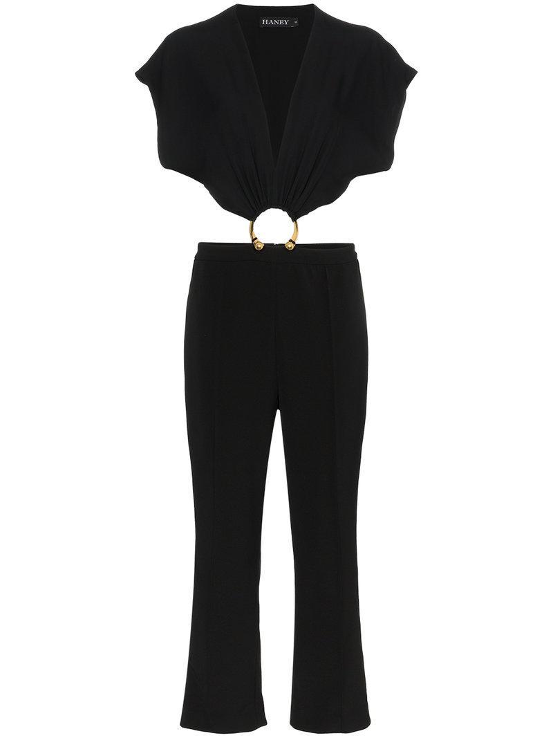 9d4825555bd Haney Austin Silk Jumpsuit in Black - Lyst