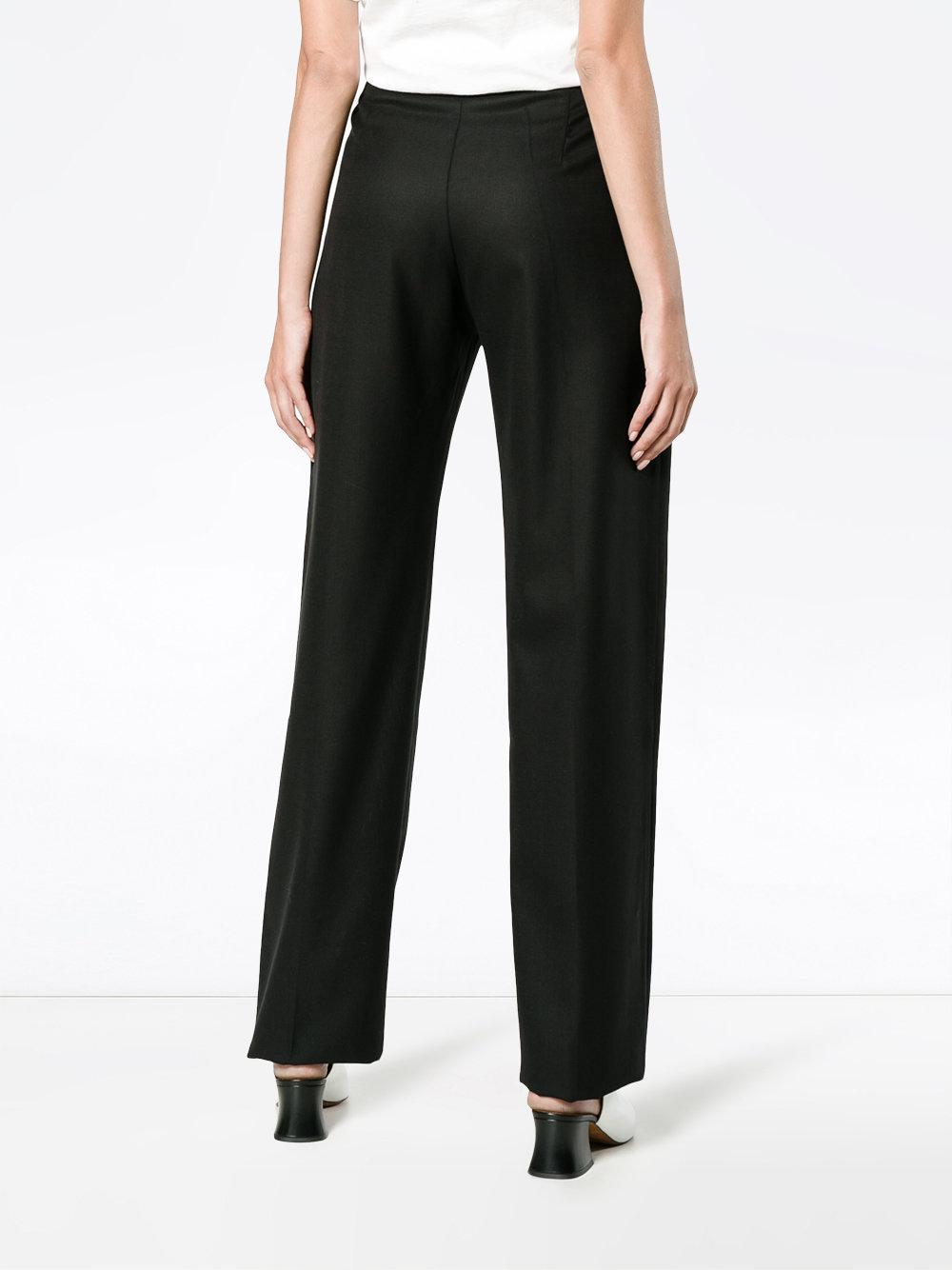 lyst jacquemus le pantalon taille haute trousers in black. Black Bedroom Furniture Sets. Home Design Ideas