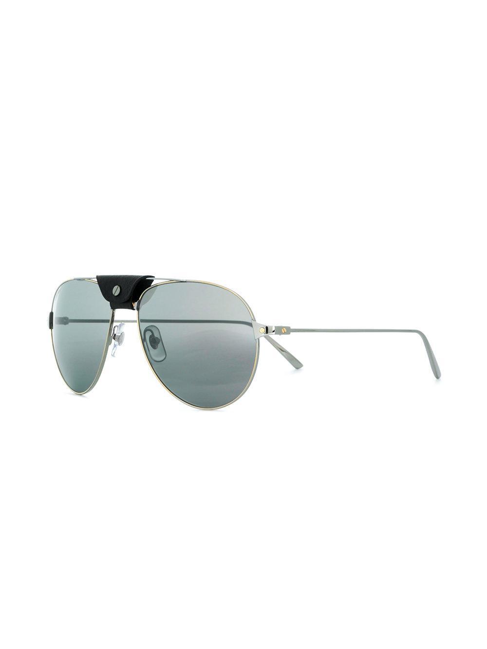 91248e8644ab Cartier Santos De Sunglasses in Metallic for Men - Lyst