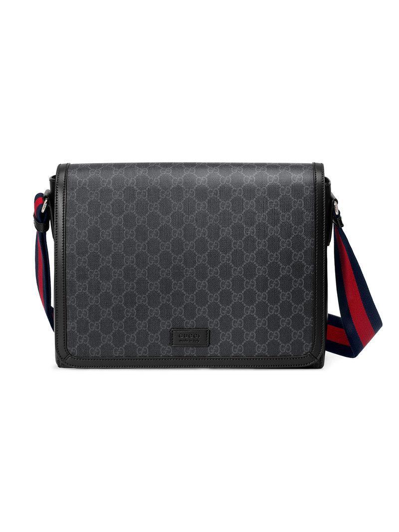 Lyst - Sac porté épaule GG Supreme Gucci pour homme en coloris Noir 8e2abe95eb8