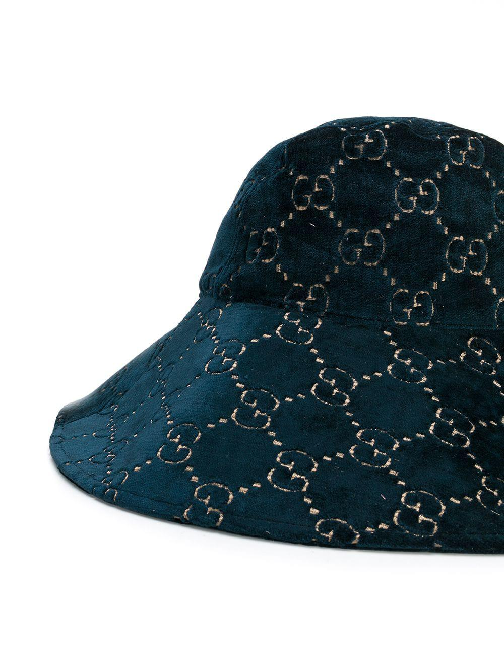 a21bc01c7b92d Gucci Ghost Hat in Blue - Lyst