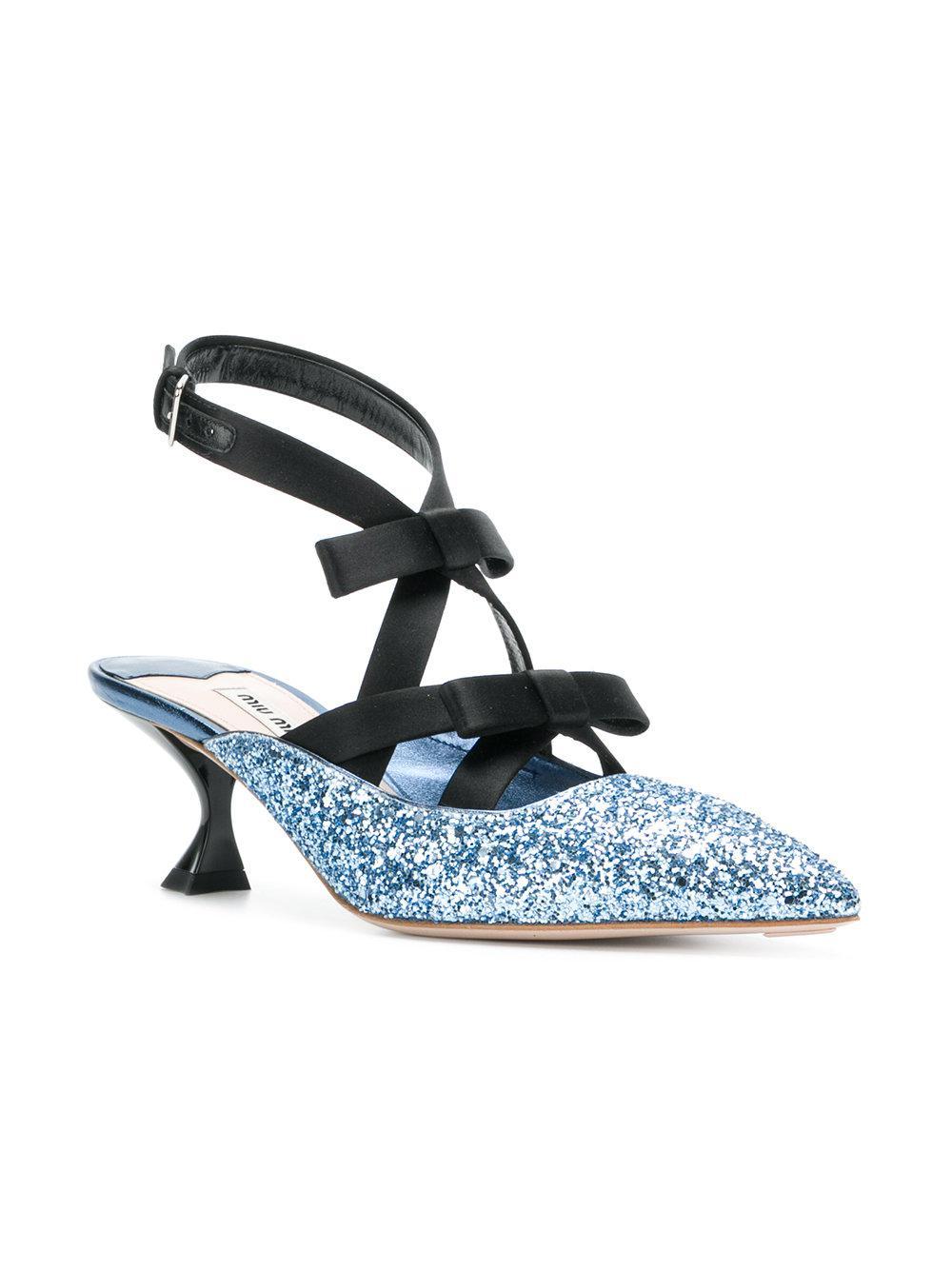 glitter 55 pumps - Blue Miu Miu 1IaEpdb