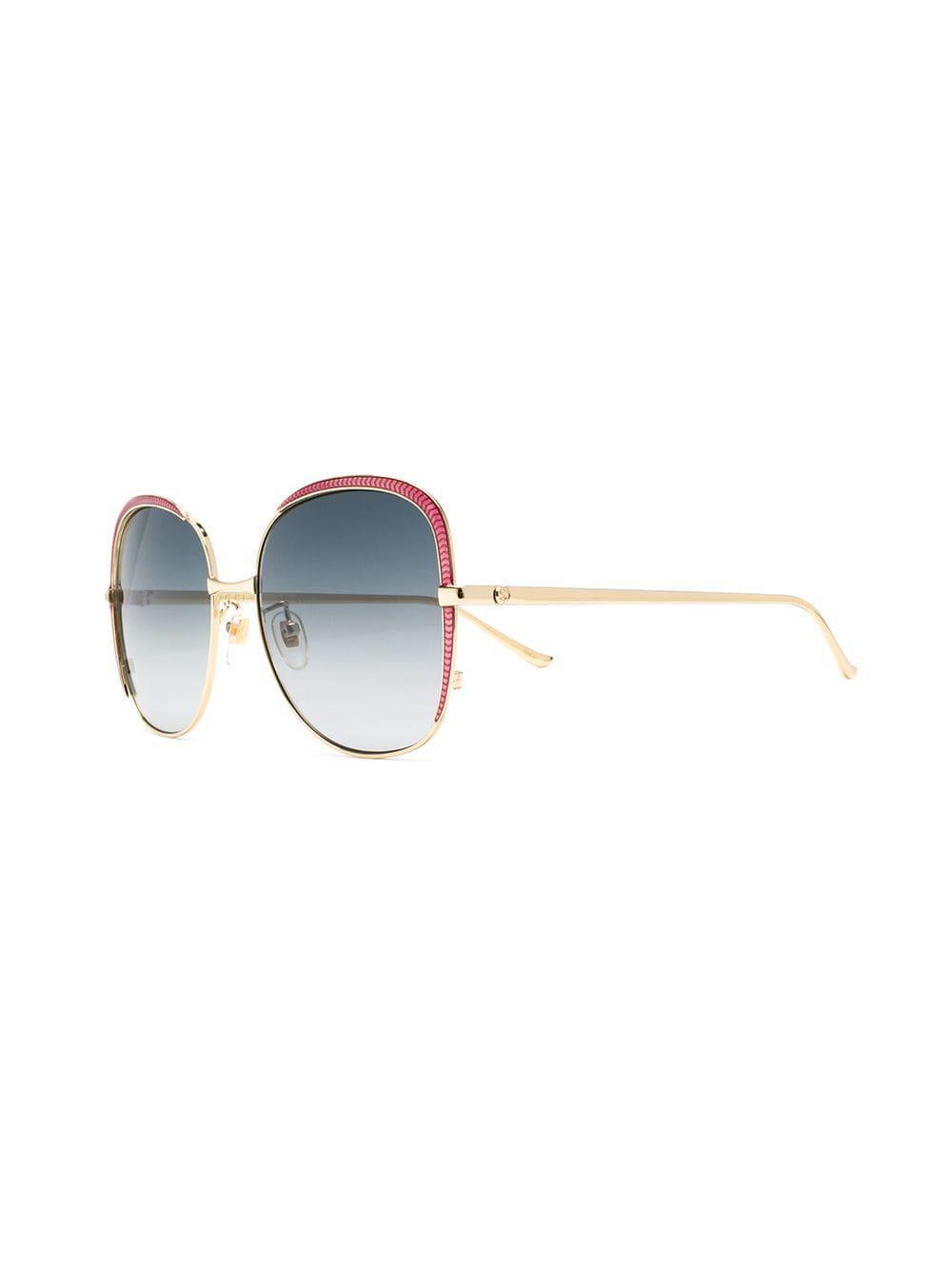 9fa89427d99 Gucci - Metallic Oversized Frames Sunglasses - Lyst. View fullscreen