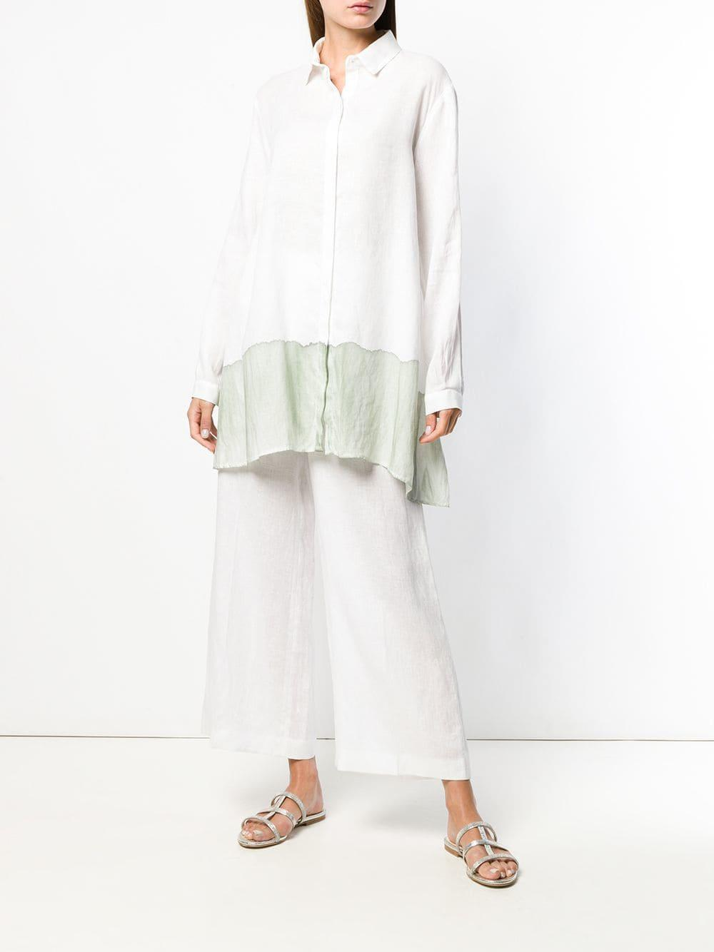 ce6efd4ed987a Lyst - Fabiana Filippi Stained-effect Shirt in White