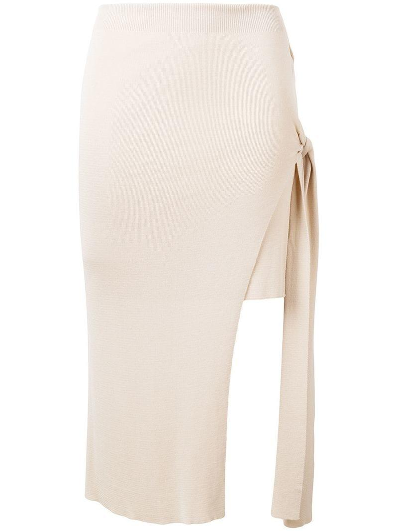 53eeb26cc Lyst - Jacquemus Side Knot Skirt in Natural