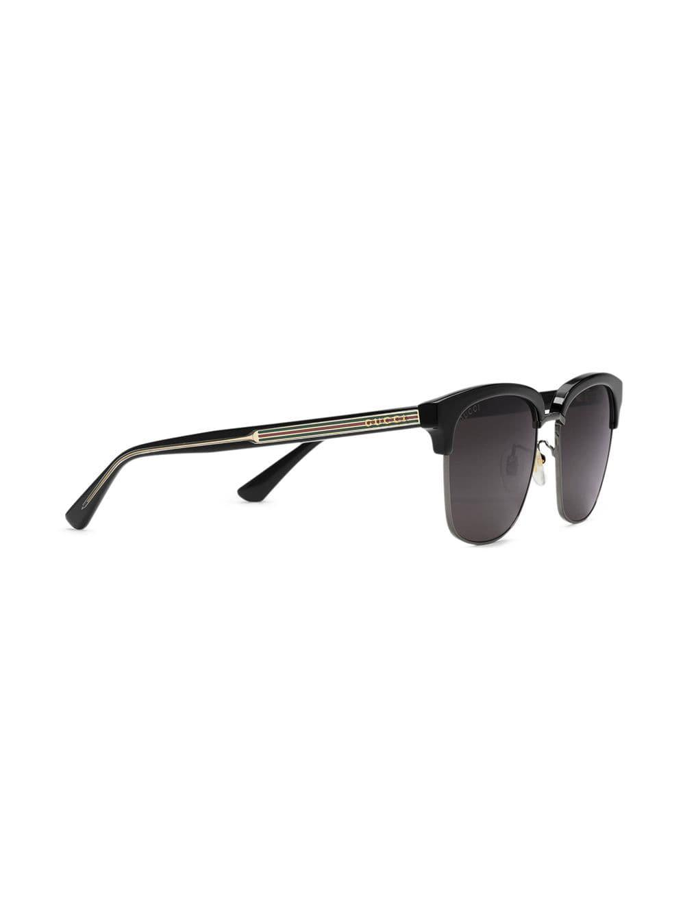 6bf650b3297ea Gucci Rectangular-frame Metal Sunglasses in Black for Men - Lyst
