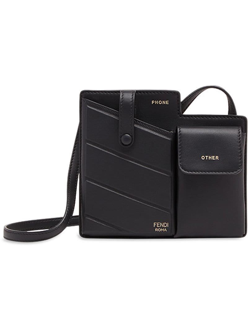 c04a06b3dc8a Fendi Pockets Mini Bag in Black - Lyst