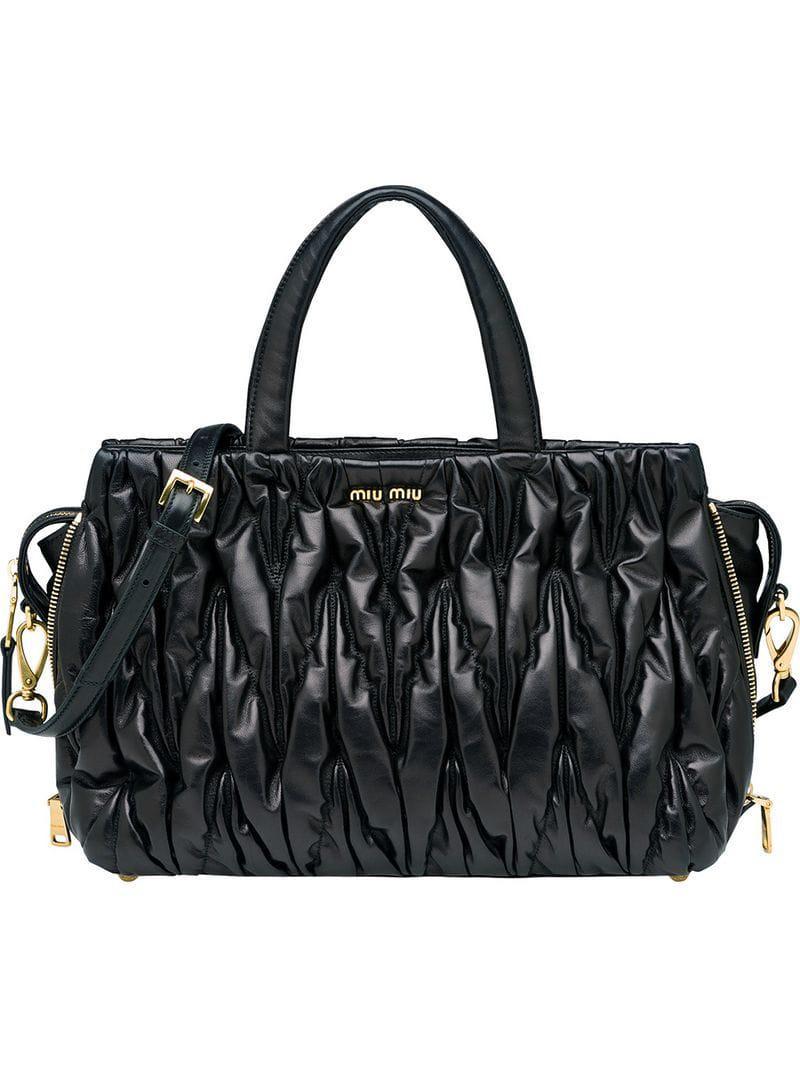 Miu Miu Avenue Travel Bag in Black - Lyst d77278a124