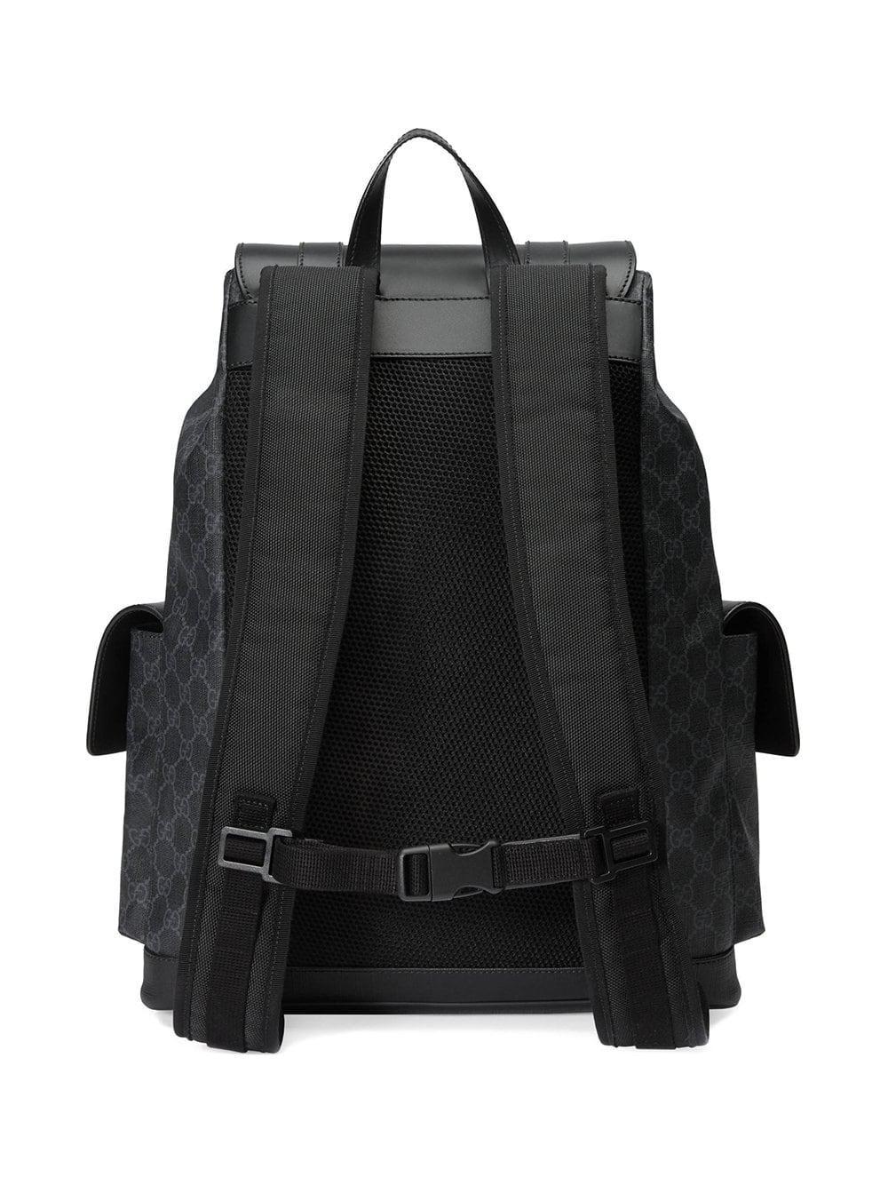 34b15203b07 Lyst - Gucci Soft GG Supreme Backpack in Black for Men