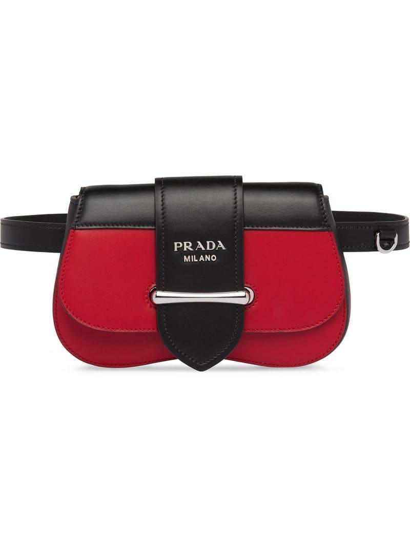 22cf4dfe1582b2 Prada Sidonie Leather Belt-bag in Red - Lyst