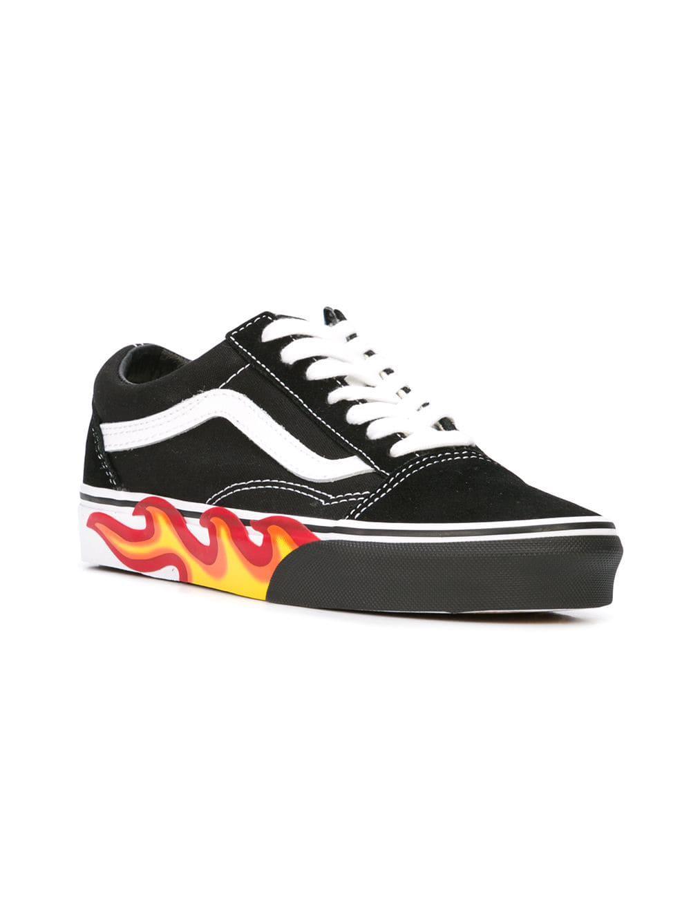 6811c0e87231cf Vans - Black Old Skool Flame Sneakers for Men - Lyst. View fullscreen
