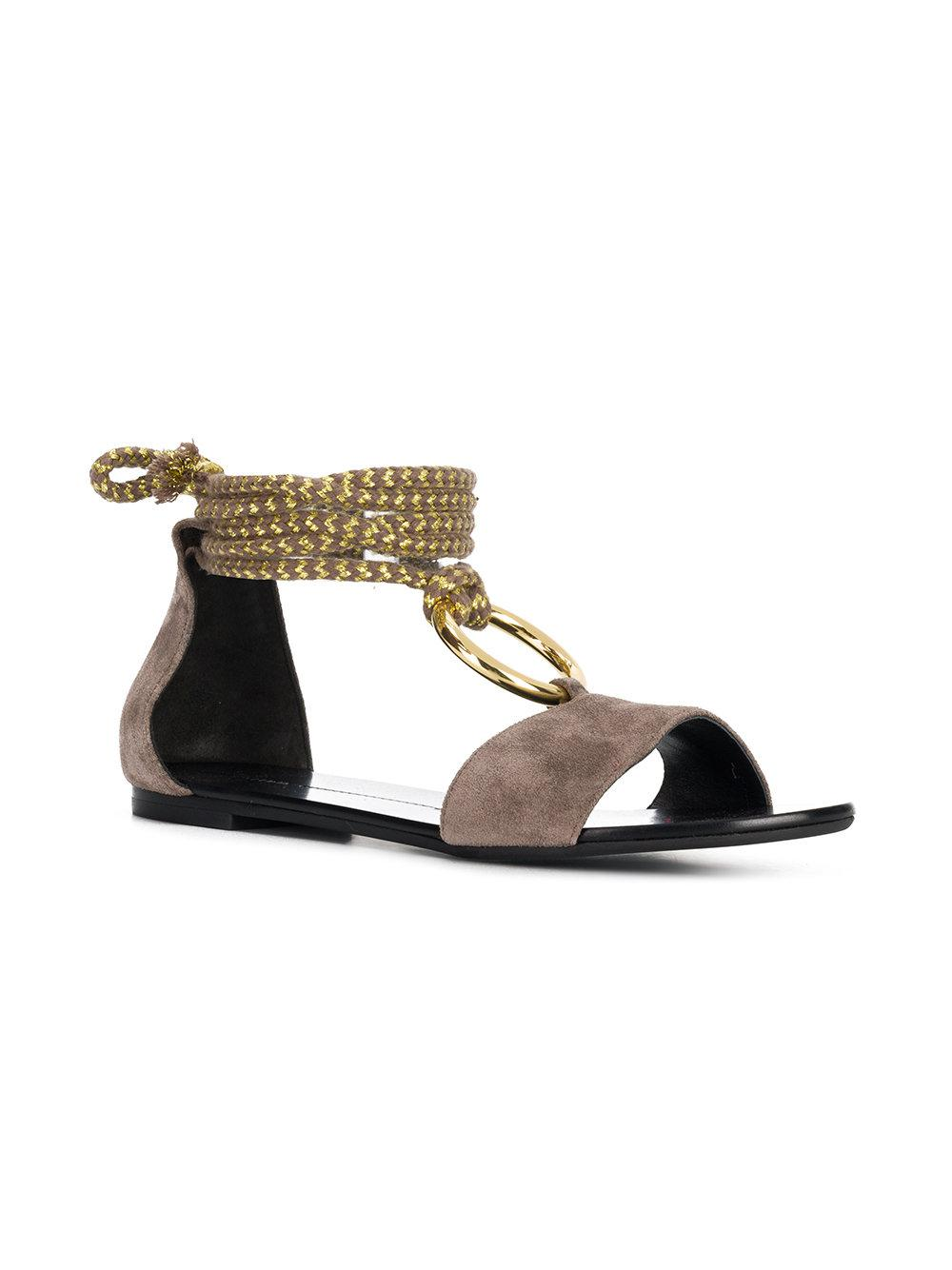 hot sale online dbf08 f2bf4 stella-luna-Brown-Cord-Ring-Flat-Sandals.jpeg