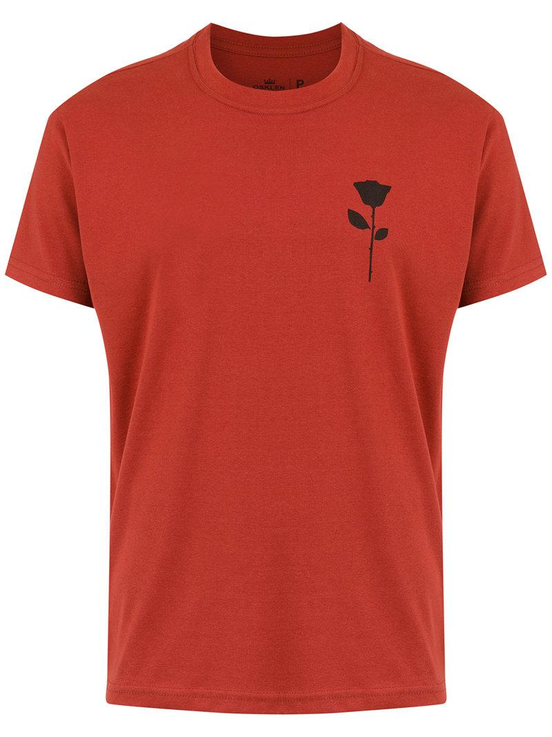 2018 New Rosa printed T-shirt - Red Osklen Sale Best Prices 7Qq5jOizI4