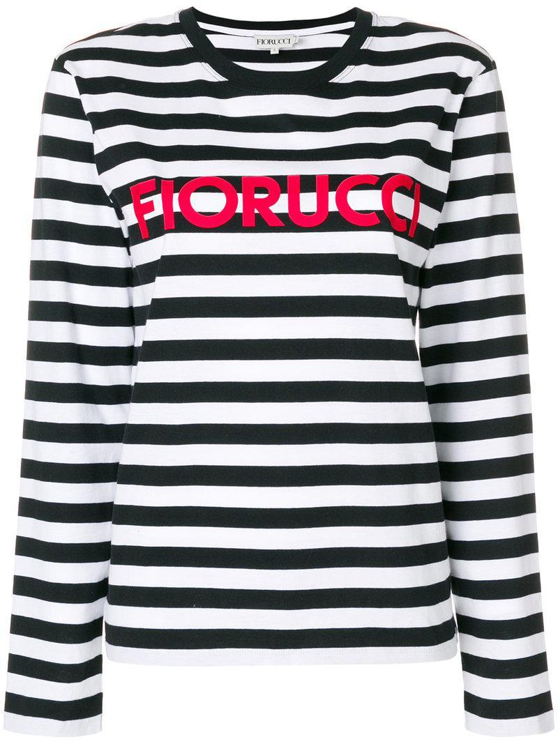 Fiorucci T-shirt rayé à logo TelKJj8