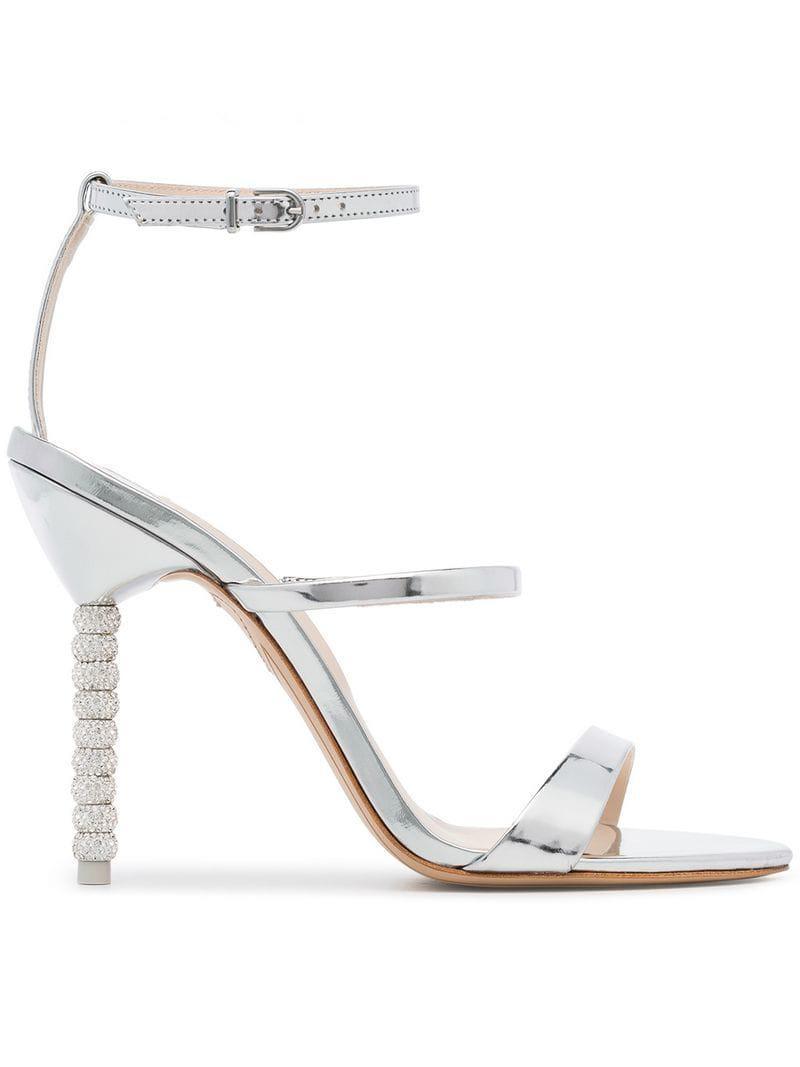 4b66c7173 Lyst - Sophia Webster Rosalind Crystal Heel Sandals in Metallic