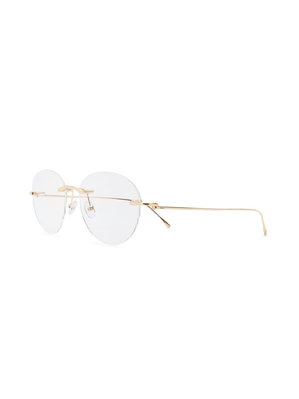 c9328c8f658 Cartier - Metallic Louis Glasses for Men - Lyst. View fullscreen