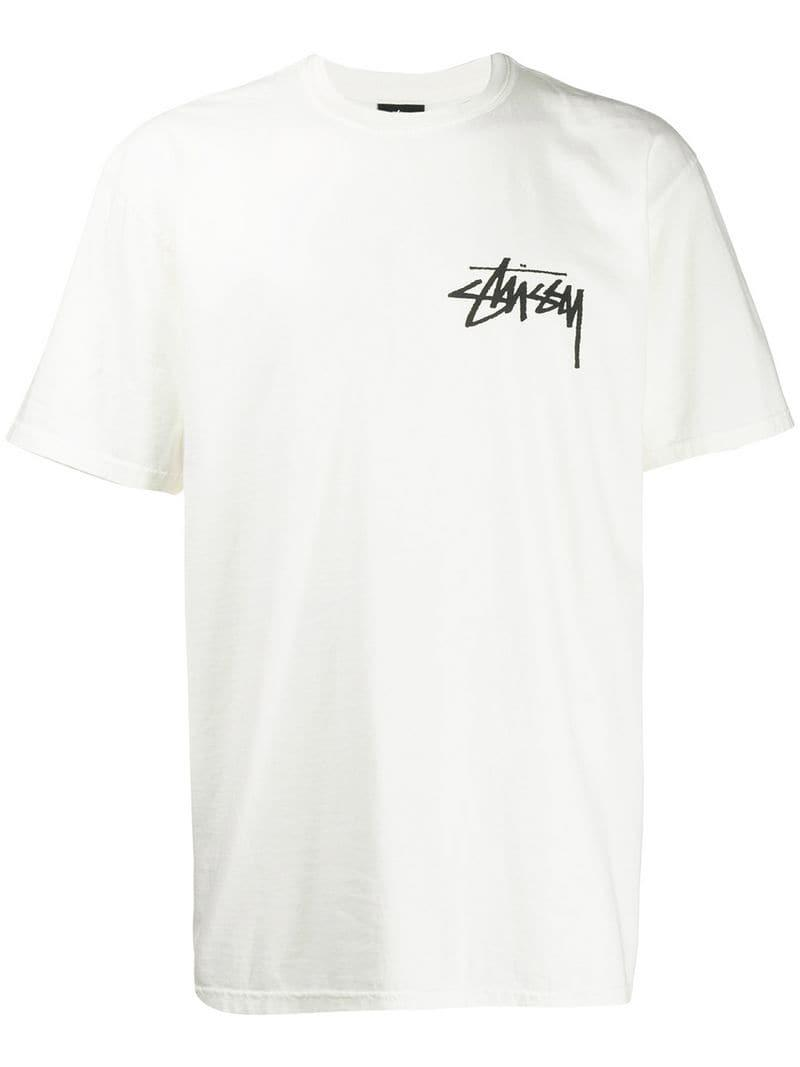 052d75dd7 Stussy - White Logo T-shirt for Men - Lyst. View fullscreen
