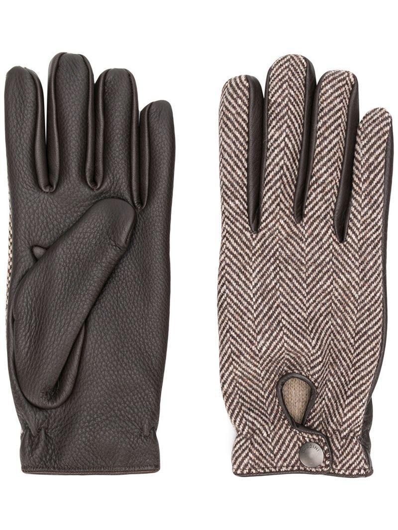5867378f13a4db Lyst - Lardini Gefütterte Handschuhe in Braun für Herren