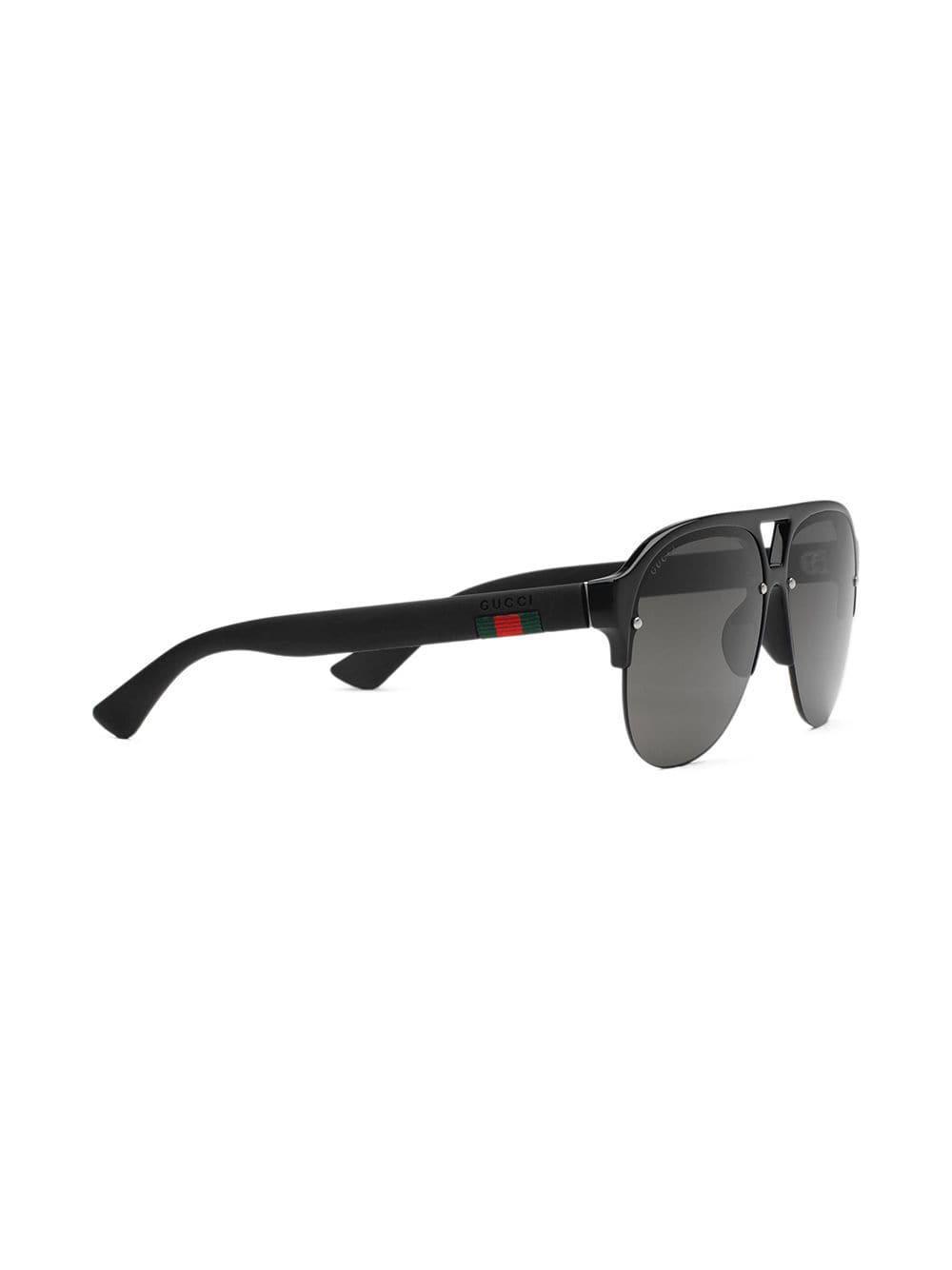 9f1f4f0a9f061 Lyst - Lunettes de soleil à monture aviateur Gucci pour homme en coloris  Noir
