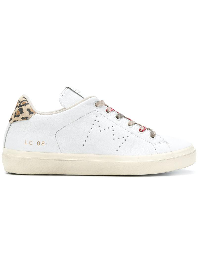 logo print sneakers - White Leather Crown VjbKwh2