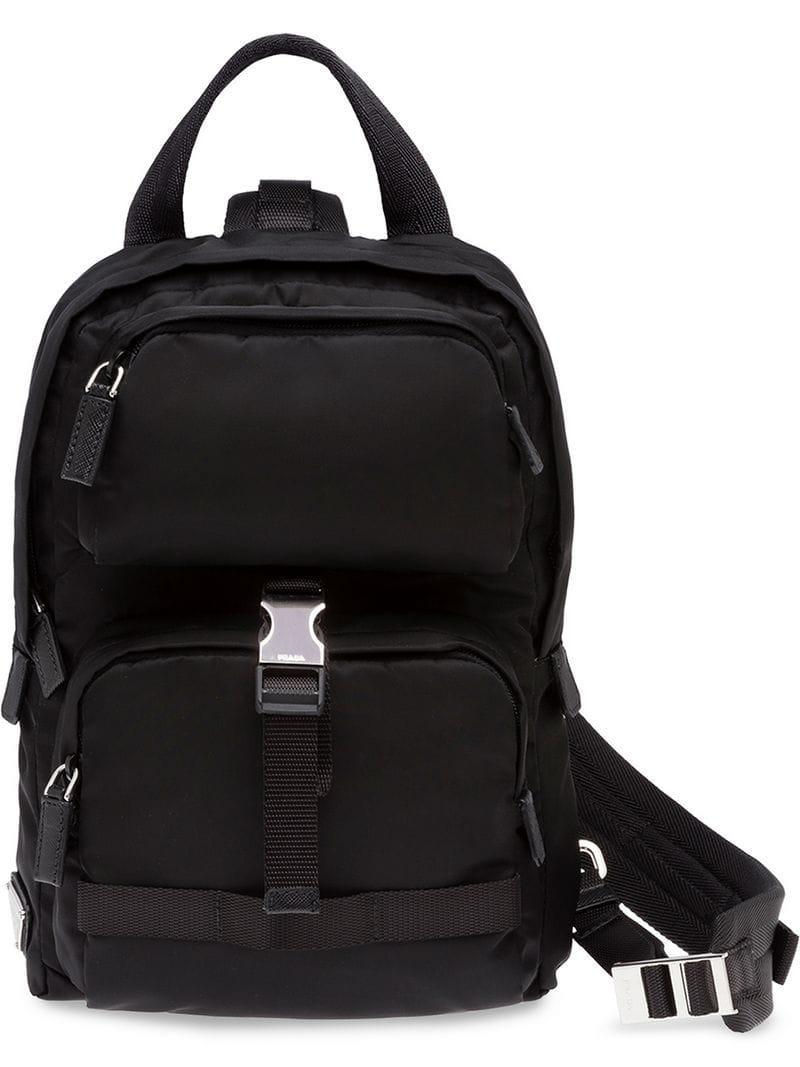 33c6c19f0ea7 Prada Single Strap Backpack in Black for Men - Lyst