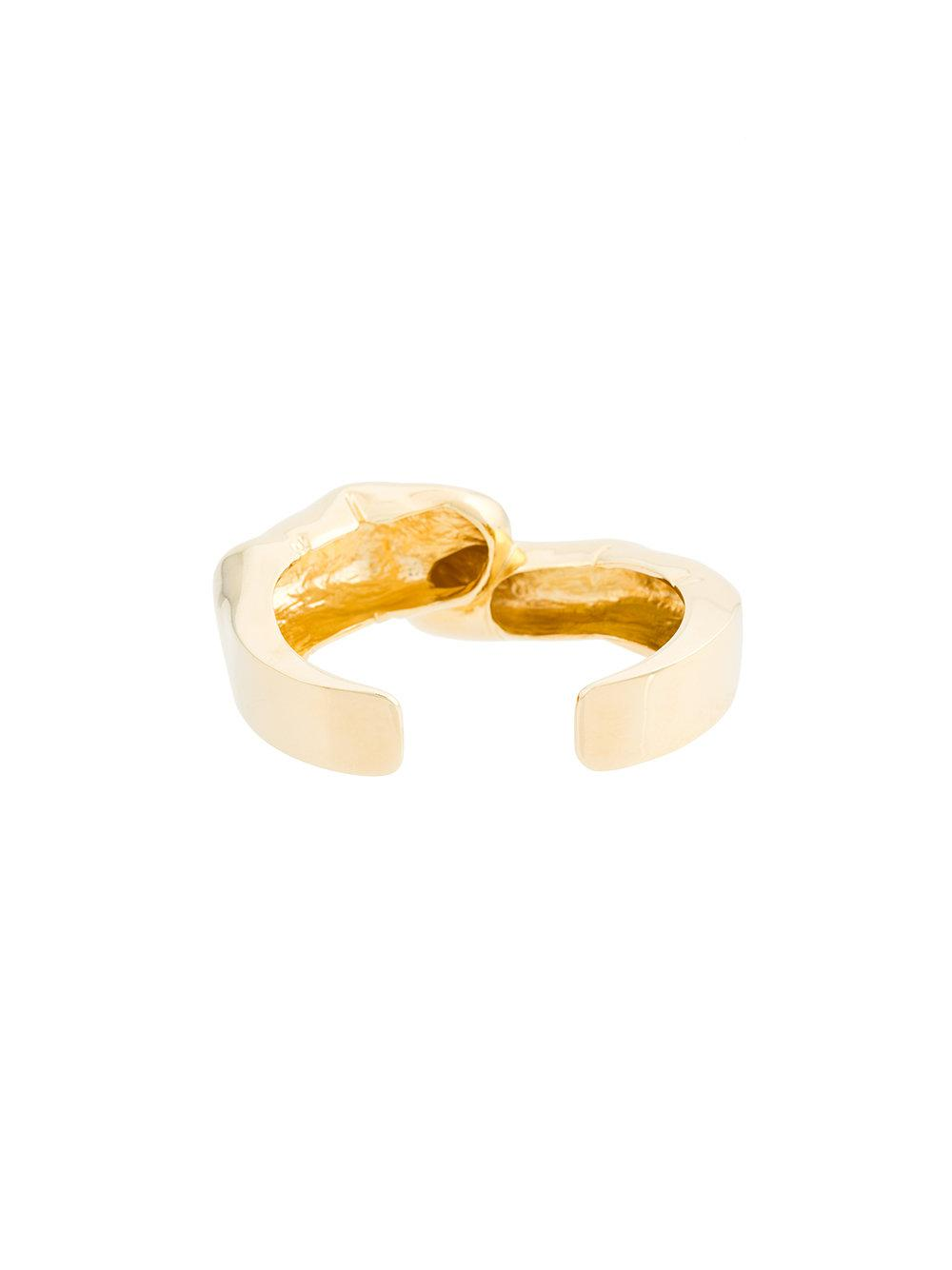 finger shape chunky ring - Metallic Y / Project 1684h1sS