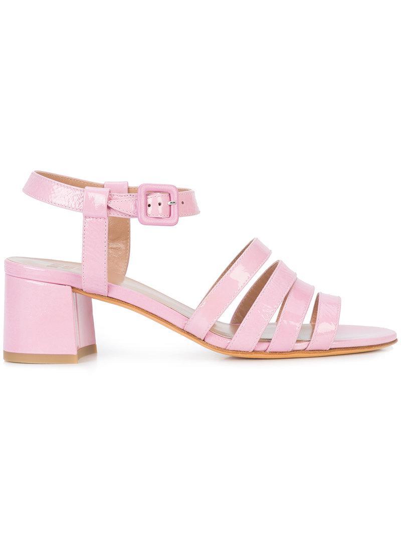 strappy block-heel sandals - Pink & Purple Maryam Nassir Zadeh WEqBiru