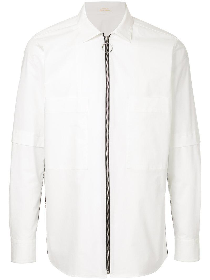 Discount For Nice fitted zipped shirt - White Education from Youngmachines Really Cheap Price Cheap Discount The Cheapest Under 50 Dollars eC4K7ZMgtq