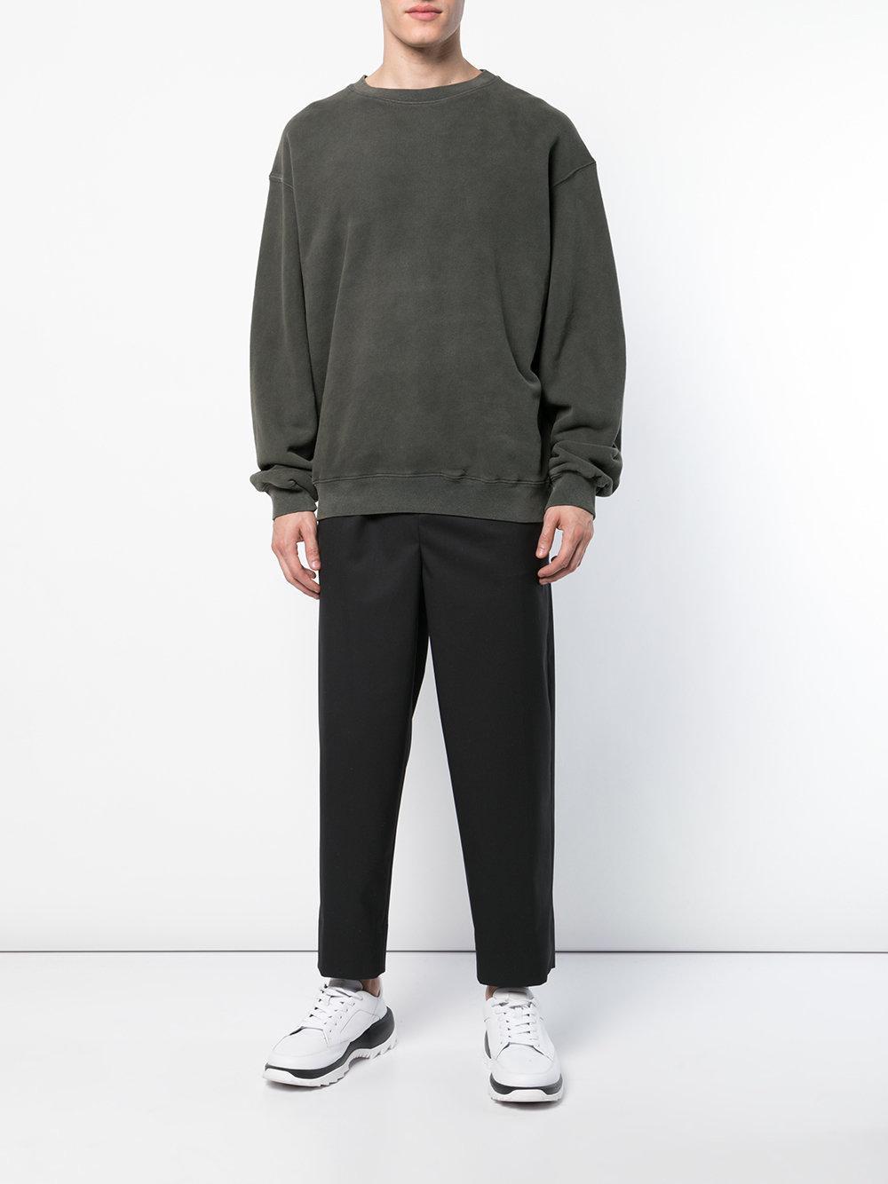 31ba94aaa Yeezy Oversized Crewneck Sweatshirt in Gray for Men - Lyst