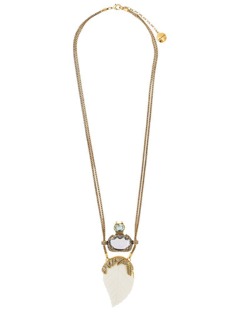 Camila Klein embellished pendant necklace - Metallic 0sRDmjkNe