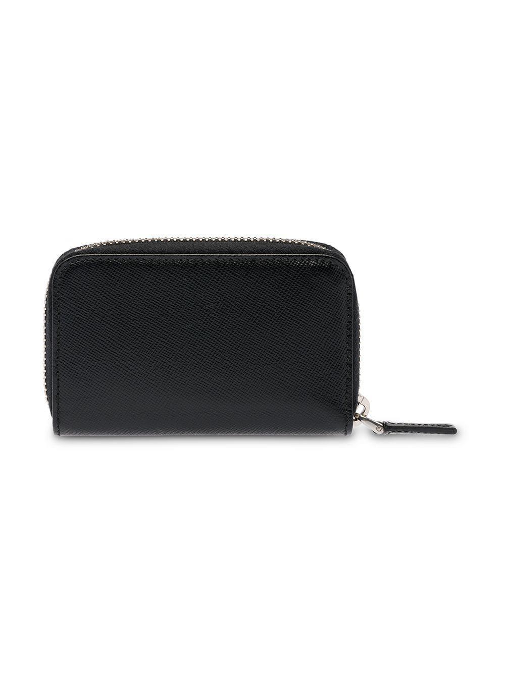 c1cf845a65 Lyst - Prada Saffiano Leather Padlock Holder in Black