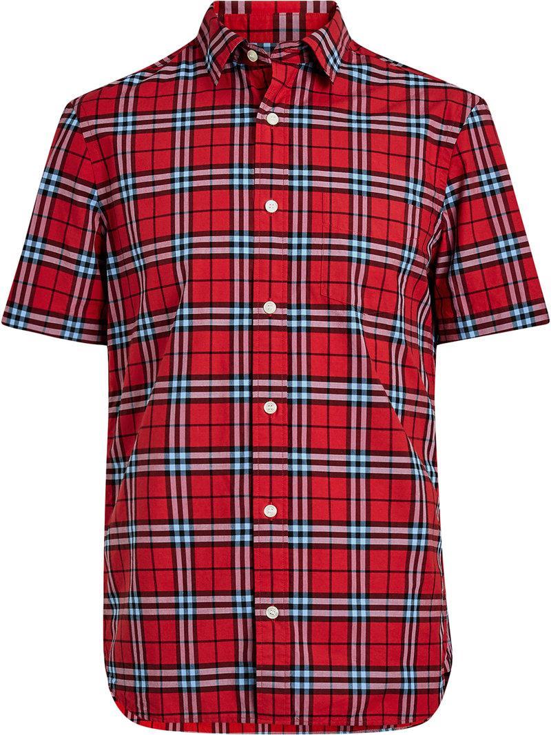 Lyst - Chemise à imprimé tartan Burberry pour homme en coloris Rouge 2161ccddaa8
