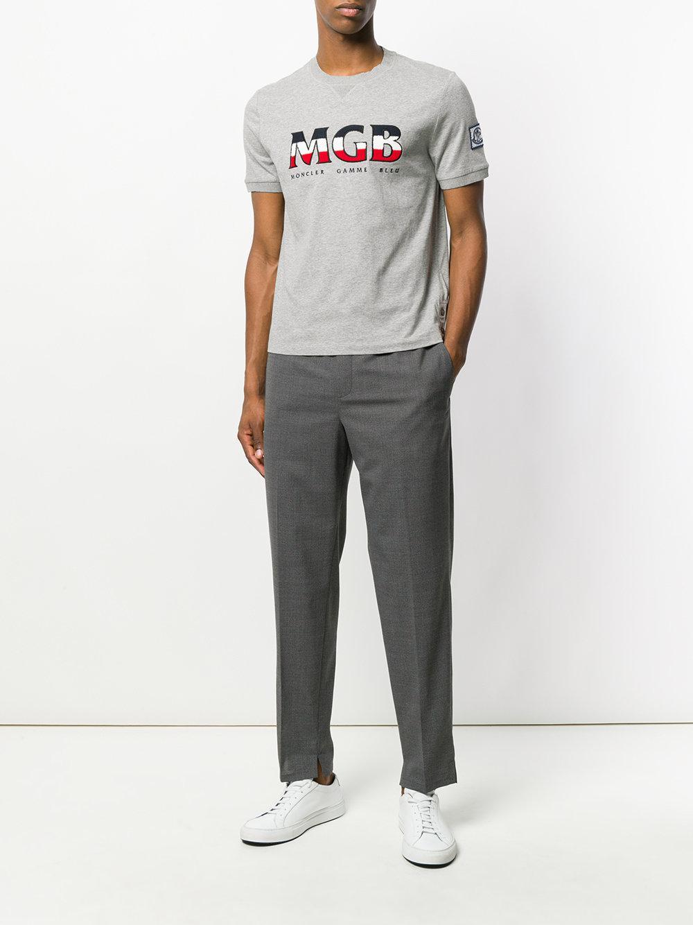 7c22d7039 Lyst - Moncler Logo Print Sweatshirt T-shirt in Gray for Men