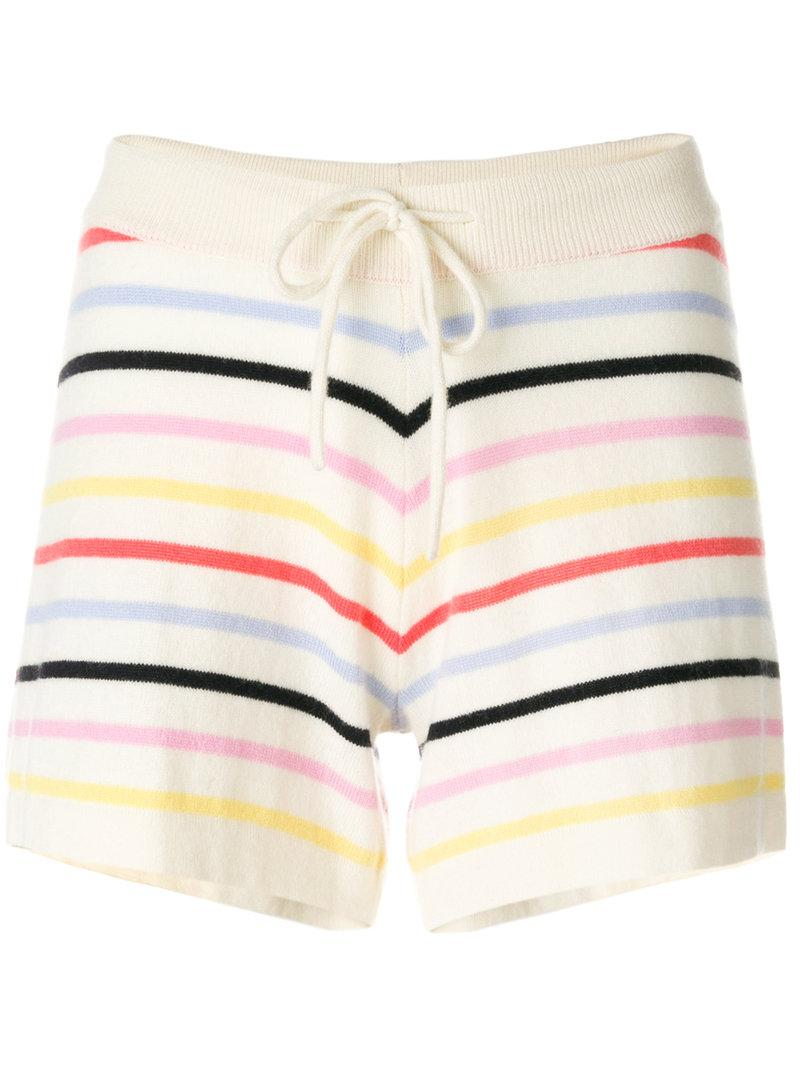 striped short shorts - Nude & Neutrals Chinti and Parker Free Shipping Great Deals Clearance Enjoy Cheap Authentic Cheap Best Place fVeJAd