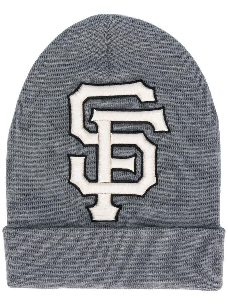 39f009fcef8ac Gucci Sf Giants Patch Beanie in Gray for Men - Save ...