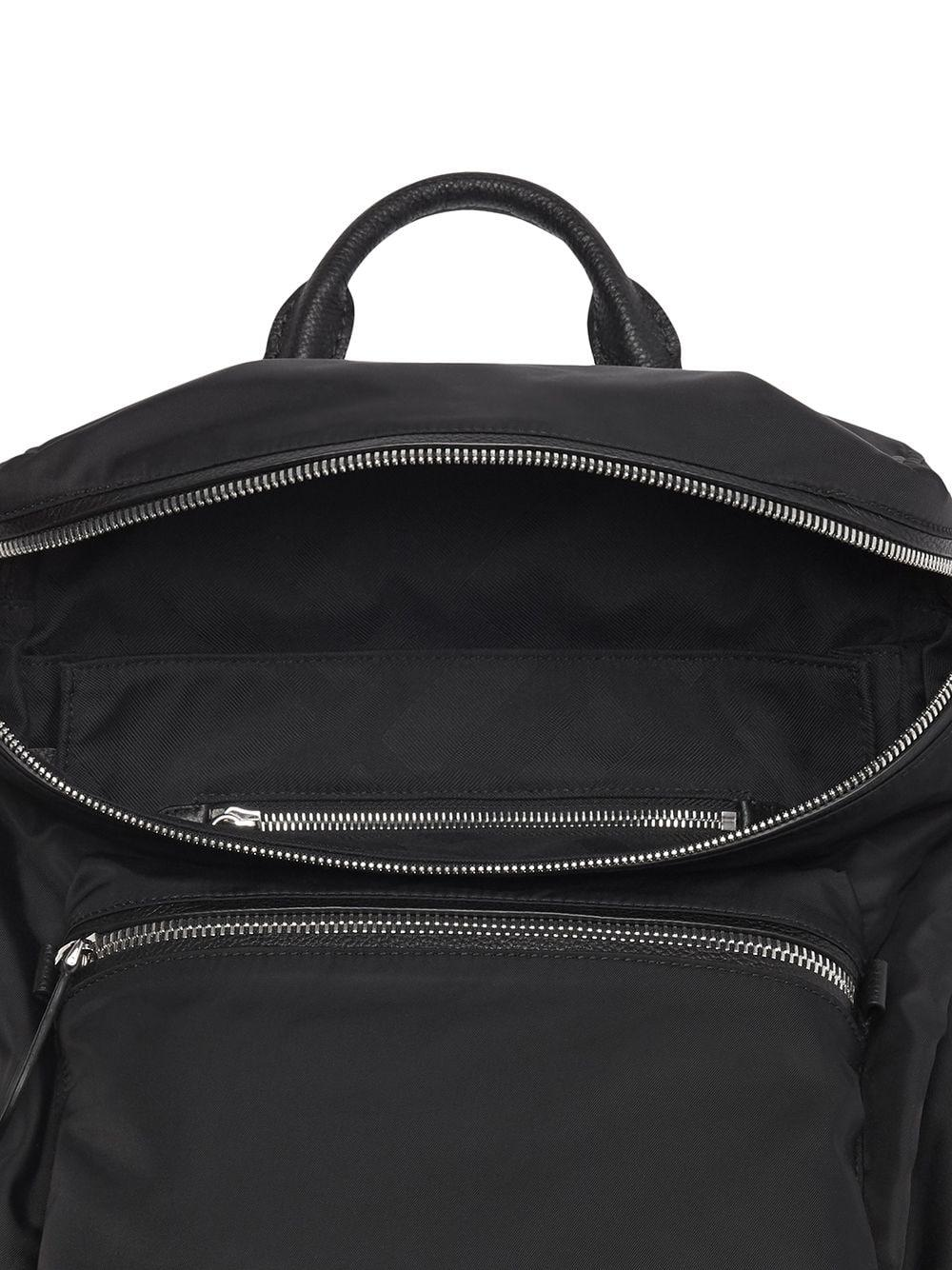 Lyst - Burberry Zip-top Leather Trim Showerproof Backpack in Black for Men  - Save 12.957746478873233% 5a3015c4ed7a7