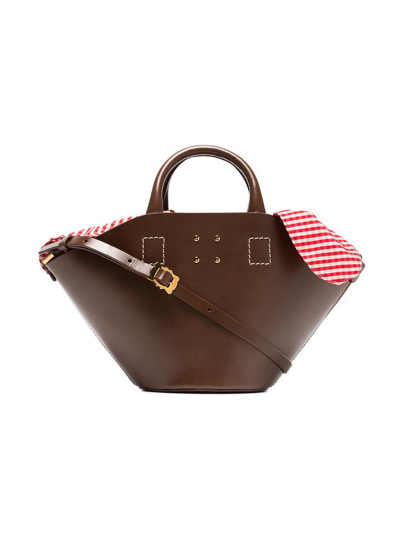 Trademark Grand sac seau à détail à carreaux vichy KTP5L