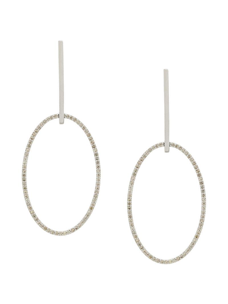 Ileana Makri Womens Stars Orbit Earrings sX5B7fg