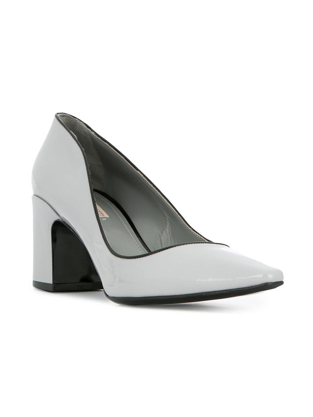 Fabrizio Viti chunky heel piped opening pumps discount visa payment cheap Manchester sale with paypal buy cheap perfect wHYr2oq