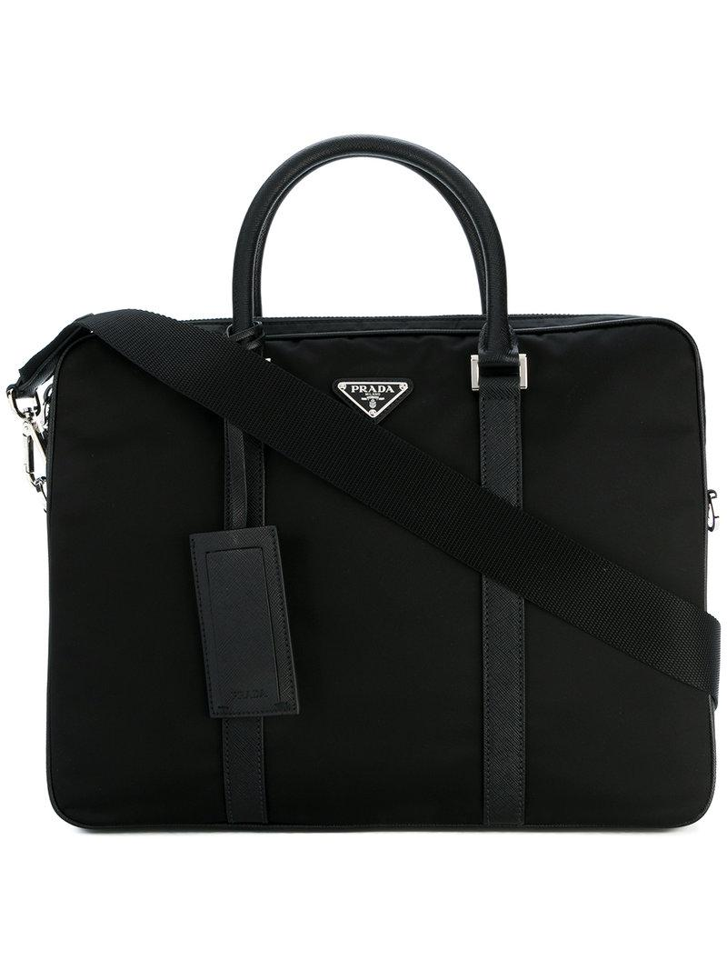 e770d016e699 Prada - Black Classic Laptop Bag for Men - Lyst. View fullscreen