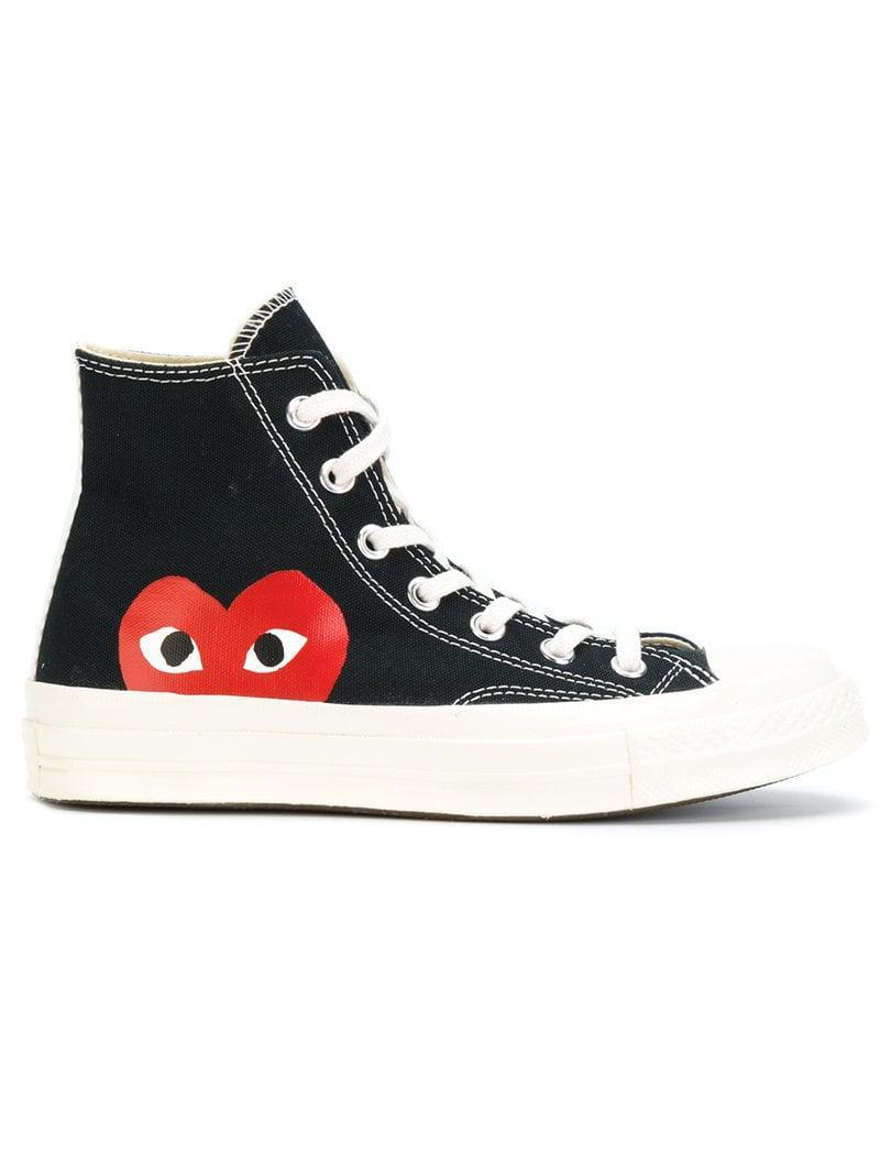 0ac68e46b7b5 COMME DES GARÇONS PLAY Black Converse Edition Half Heart Chuck 70 ...