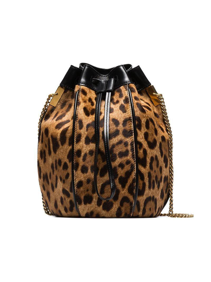 59310759a5 Lyst - Saint Laurent Talitha Bucket Bag in Brown
