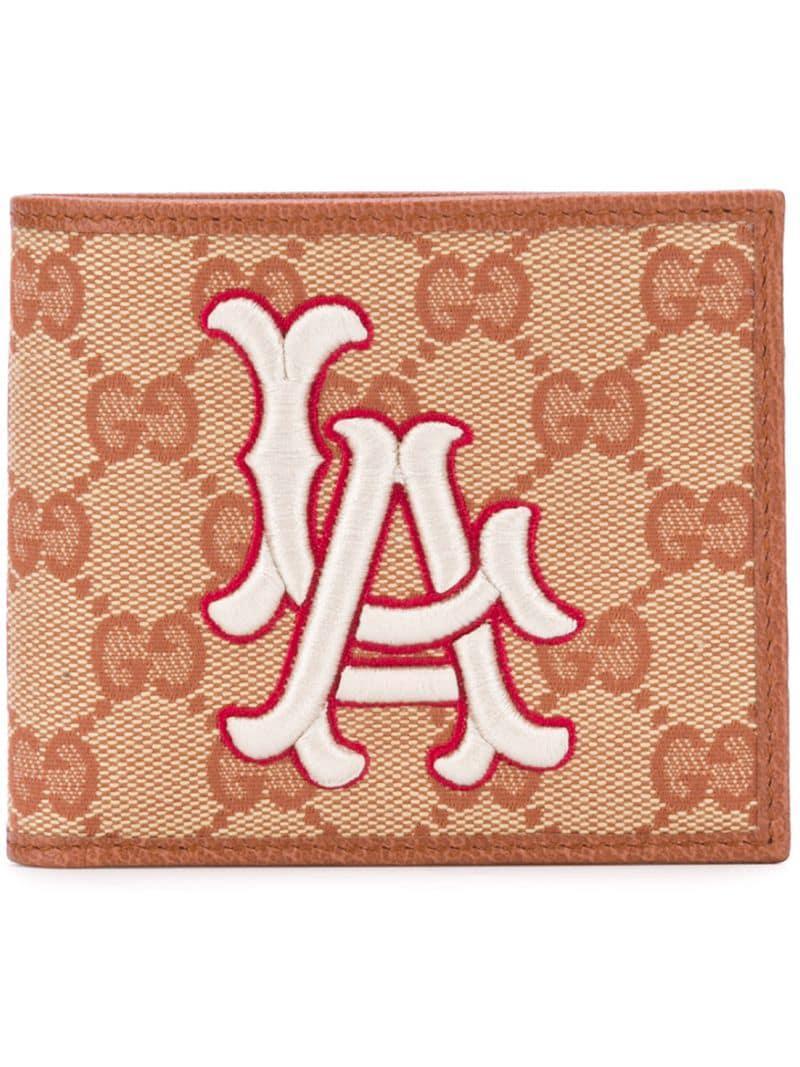 1d42b5b331800 Lyst Porte Monnaie A Patch New York Yankees Gucci Pour Homme En
