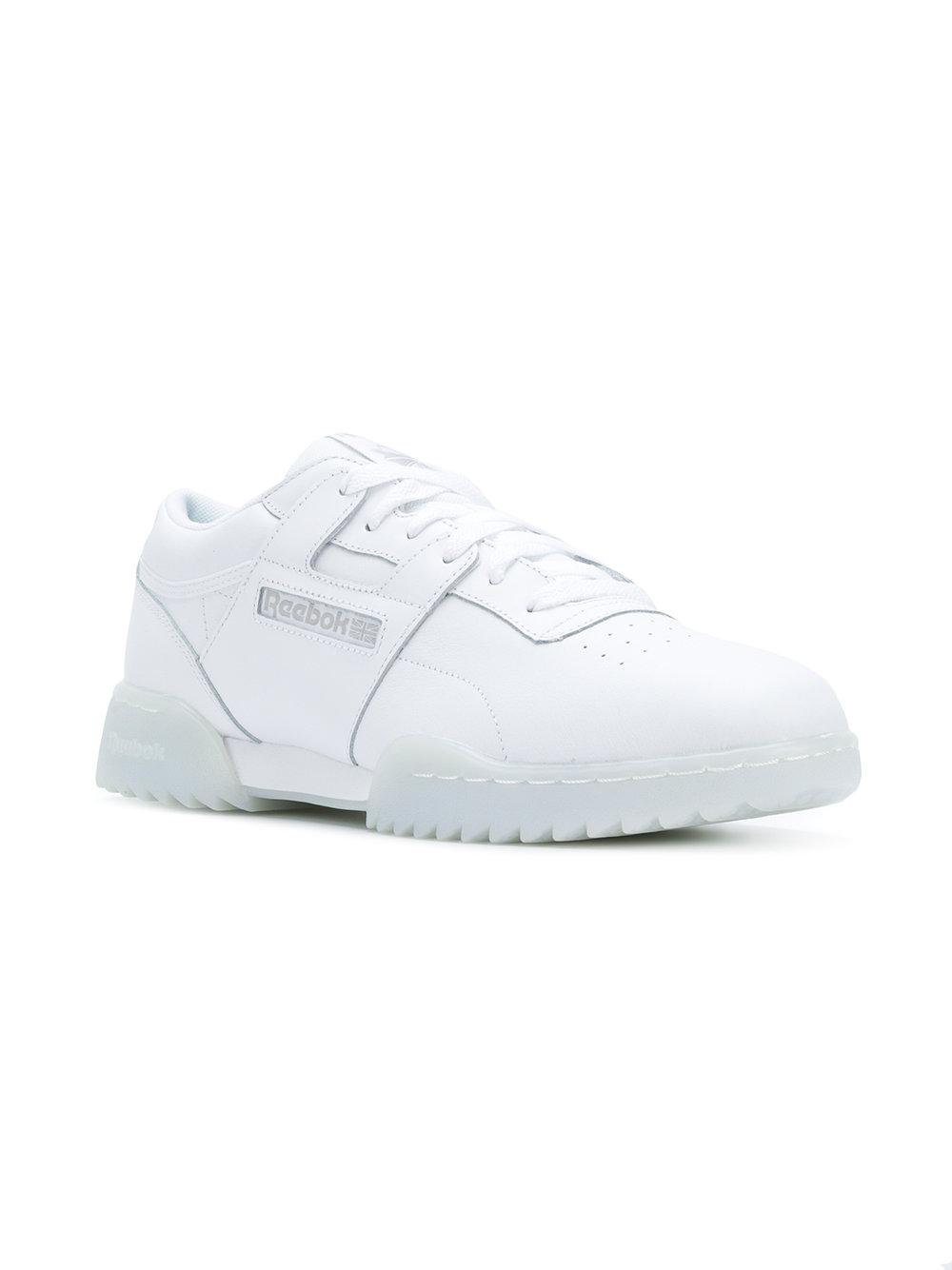 7f274a0449c36 Lyst - Reebok Workout Clean Ripple Sneakers in White for Men