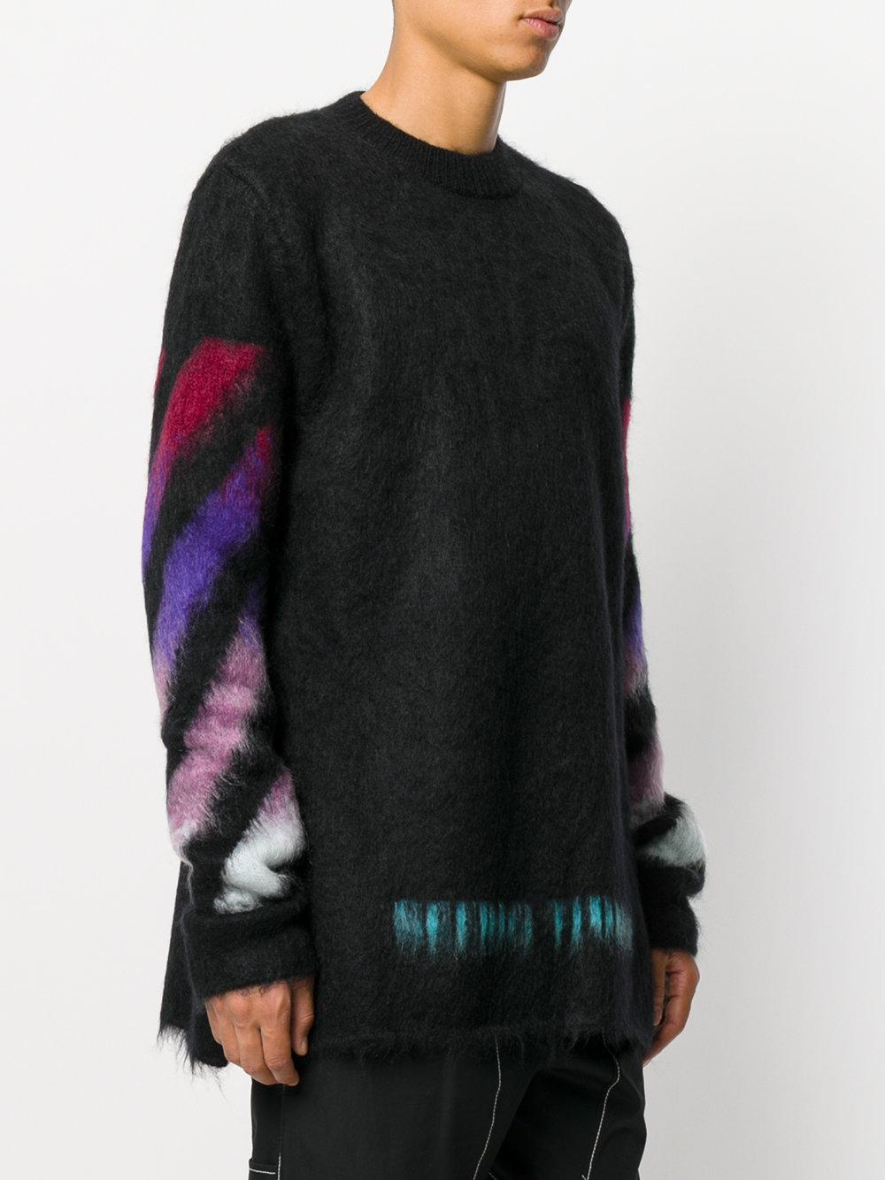 d78e62f71cc3 Lyst - Off-White c o Virgil Abloh Brushed Arrows Pullover in Black ...